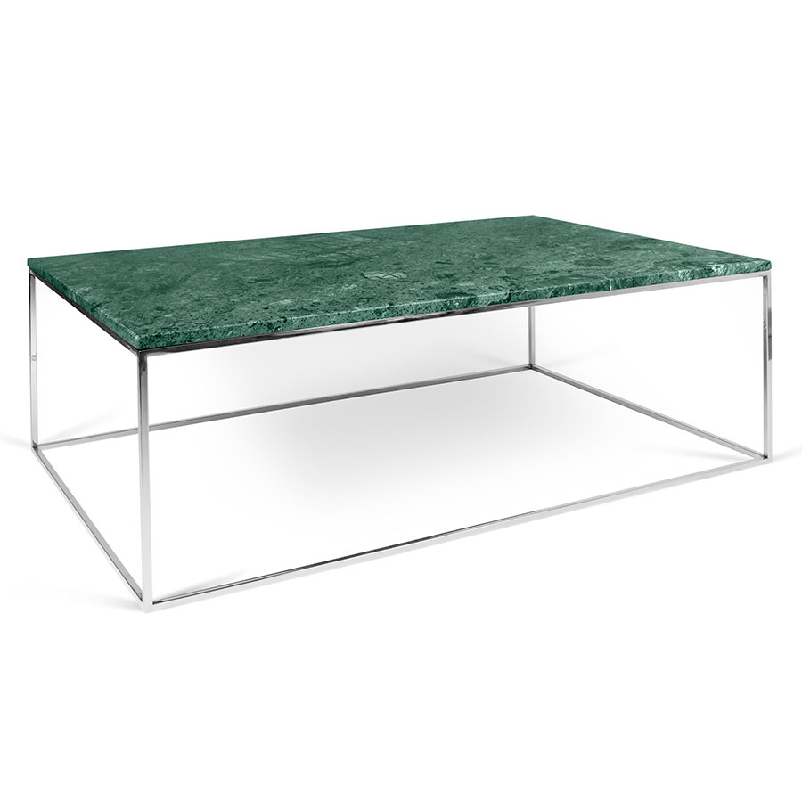 Temahome Gleam Green Marble Chrome Rectangle Coffee Table Eurway with size 900 X 900