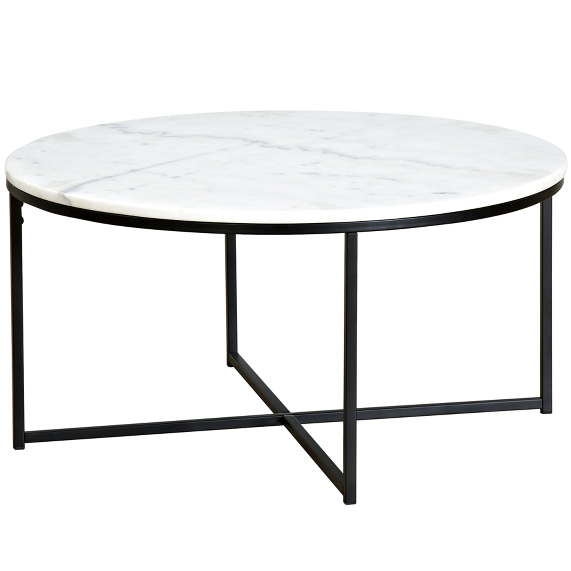 Temple Webster 80cm Round White Siena Marble Coffee Table Reviews for proportions 2000 X 2000