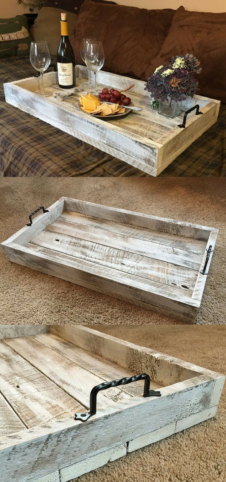 This Simple Rustic Farmhouse Serving Tray Would Be A Perfect with measurements 736 X 1564
