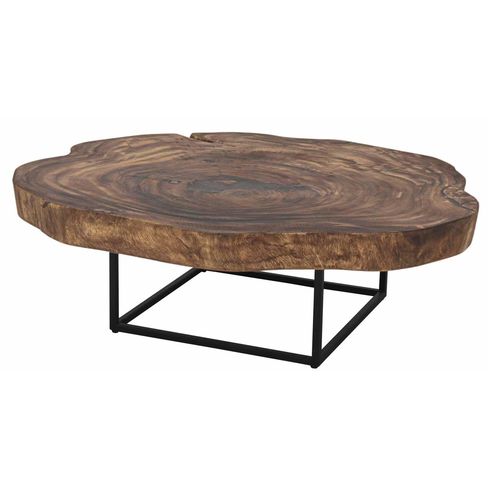 Trembesi Coffee Table Black Iron Legs Natural Boulevard Urban Living throughout dimensions 1611 X 1611