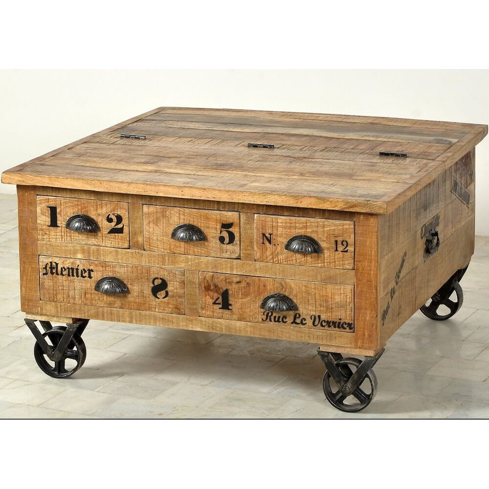 Trunk Coffee Table Menier Chocolate Factory inside dimensions 1000 X 1000
