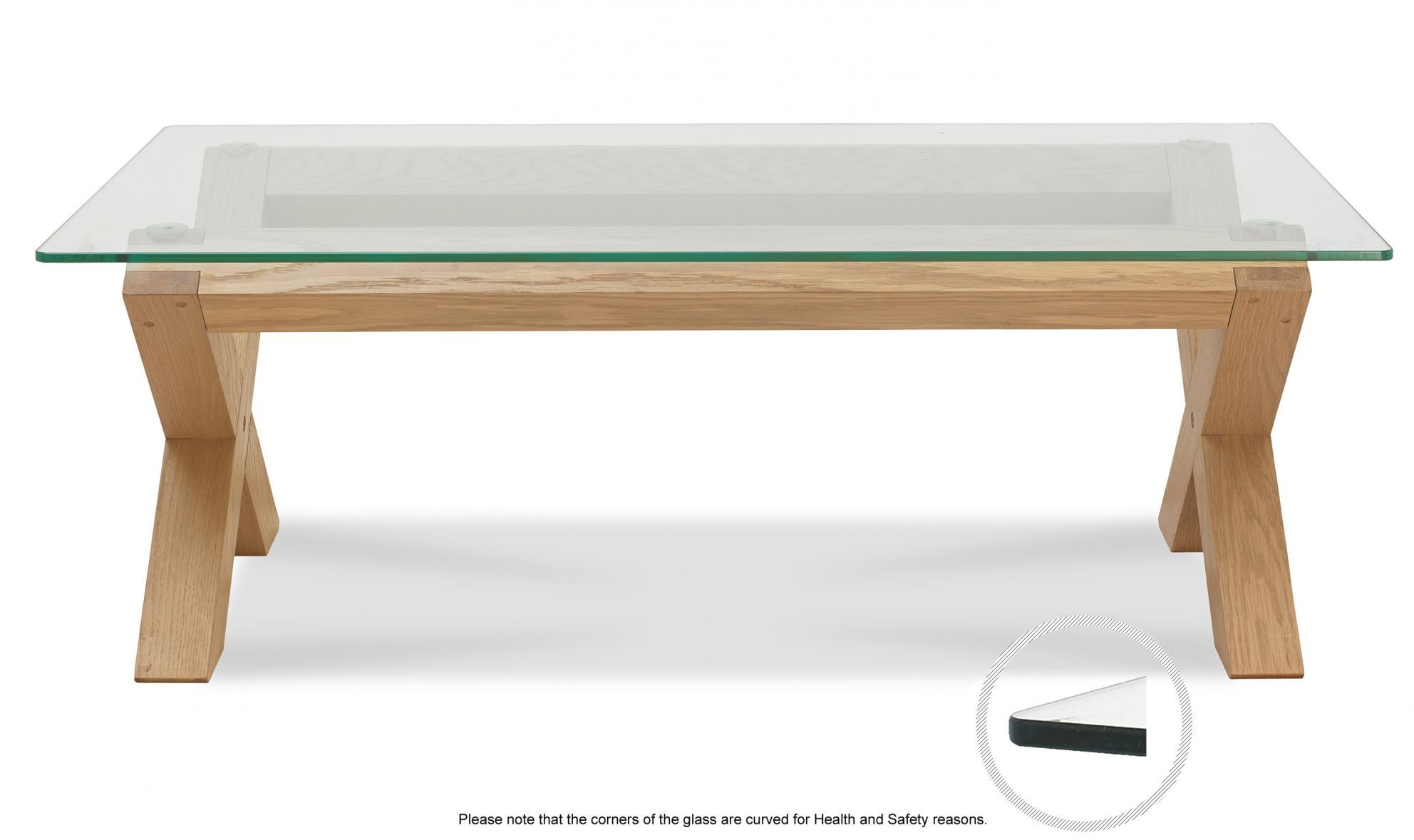 Turin Light Oak Glass Top Coffee Table Belgica Furniture throughout proportions 1984 X 1179