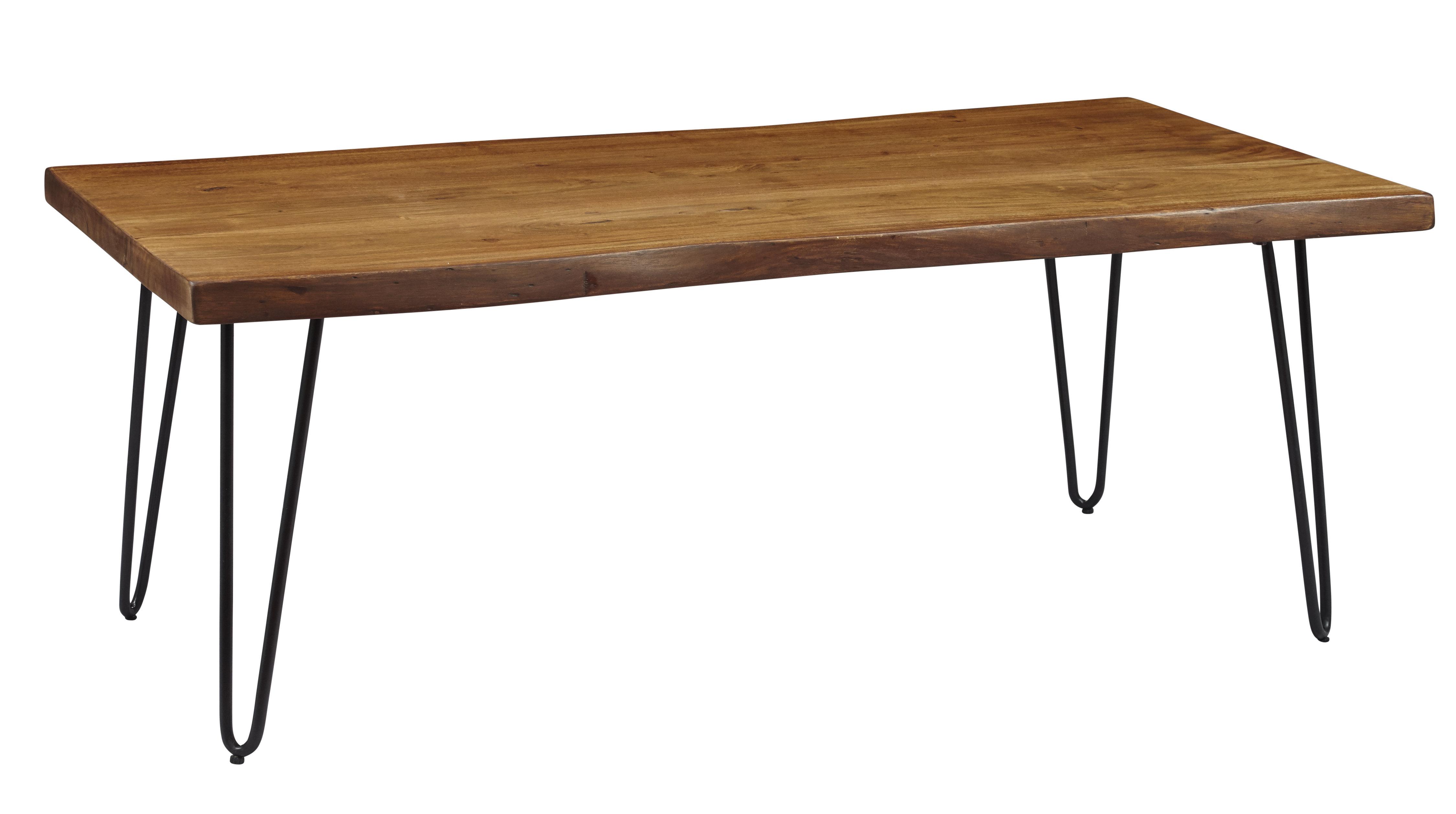 Union Rustic Coosada Wooden Metal Hairpin Legs Coffee Table Wayfair in size 4500 X 2515