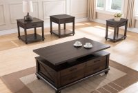 United Furniture Dark Walnut 3pc Coffee Table Set The Classy Home within dimensions 6144 X 4912
