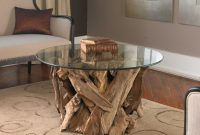 Uttermost Driftwood Glass Top Cocktail Table with dimensions 2400 X 2400