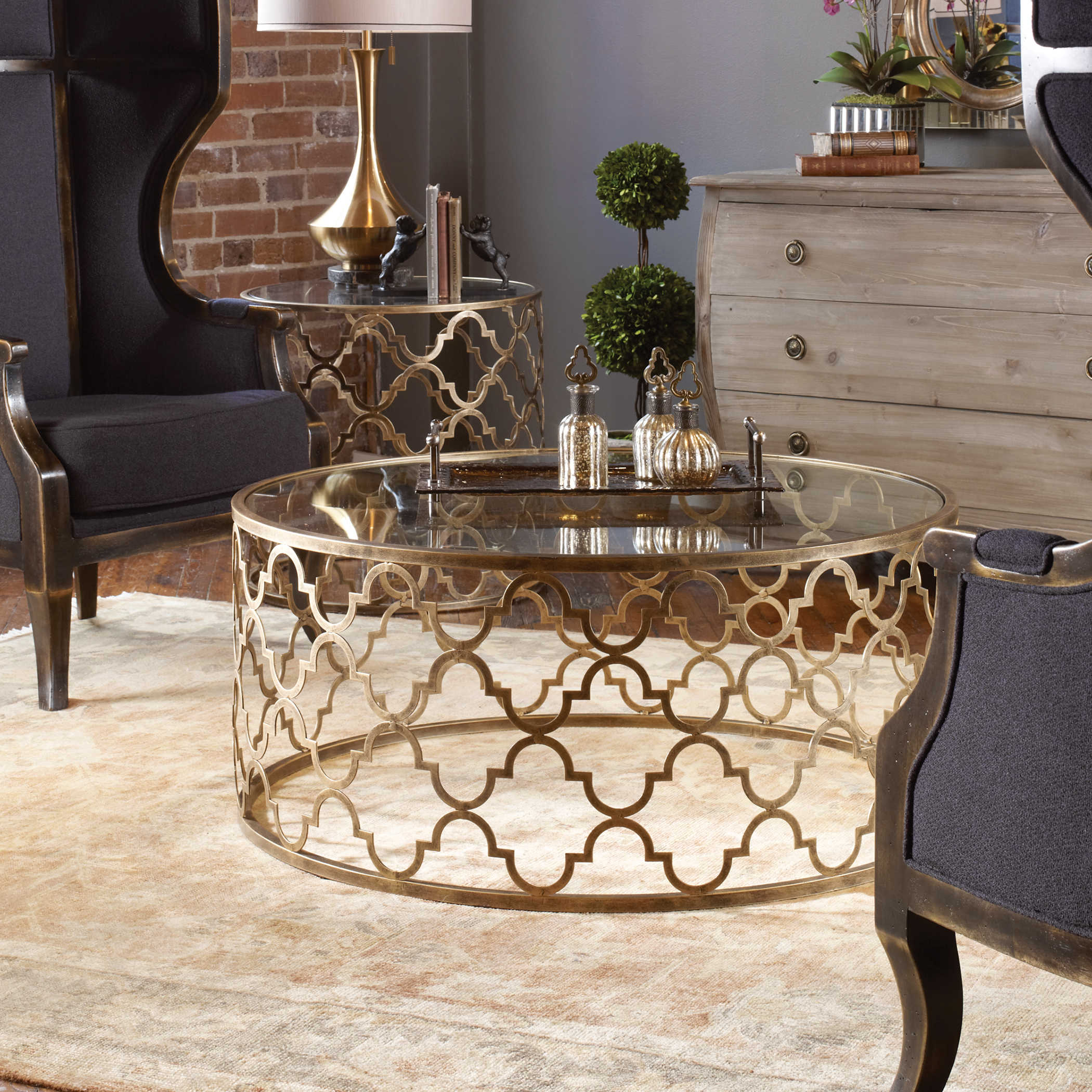 Uttermost Quatrefoil Coffee Table for proportions 2100 X 2100