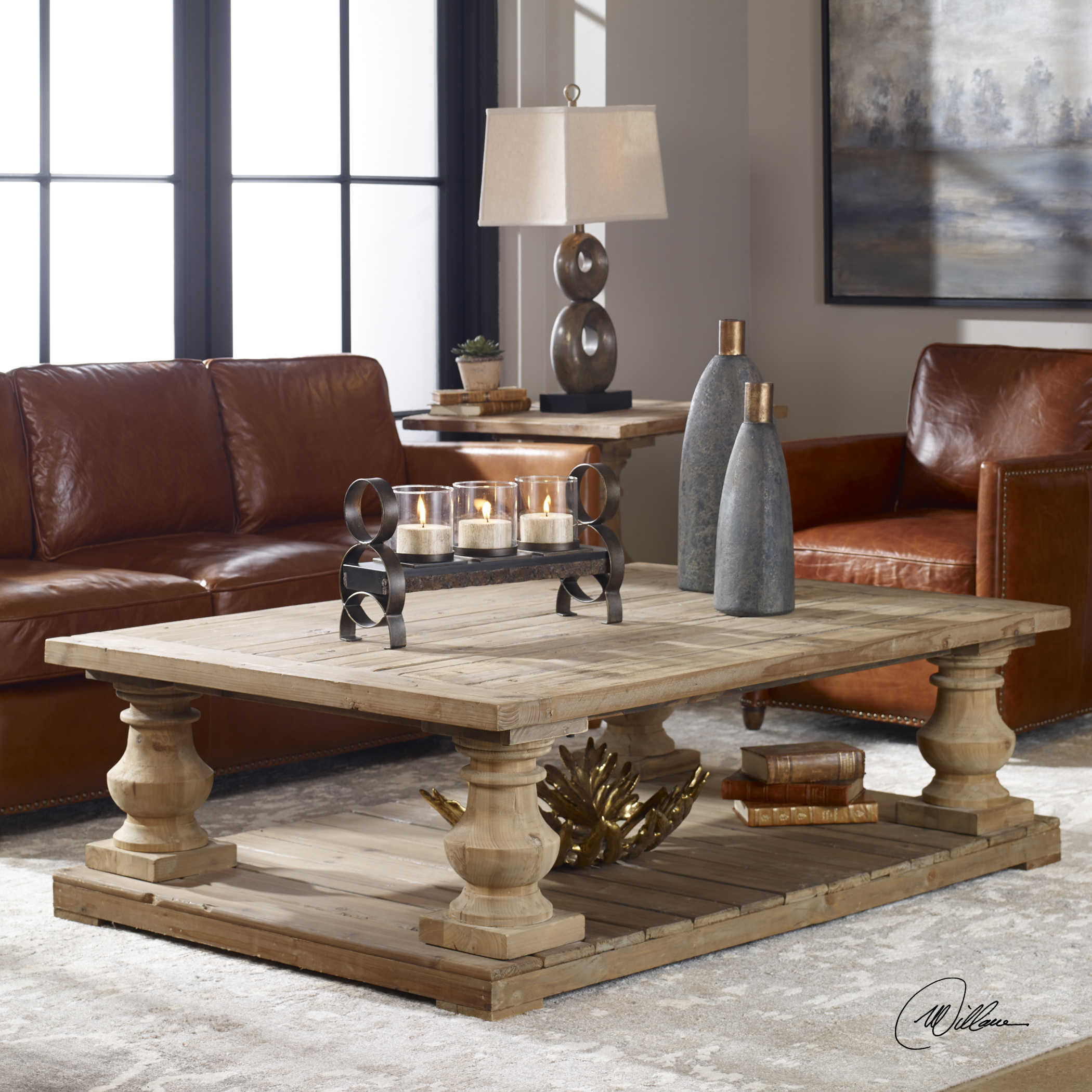 Uttermost Stratford Rustic Cocktail Table pertaining to sizing 2100 X 2100