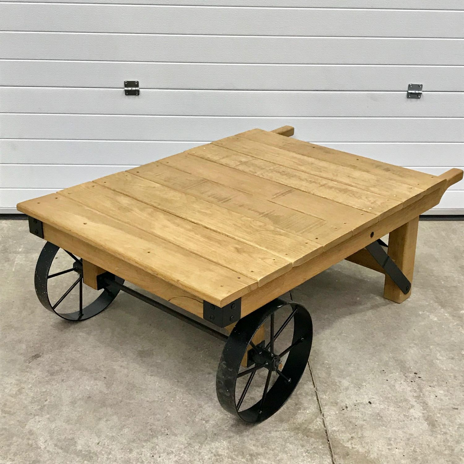 Vintage Industrial Trolley Coffee Table Vintage Upcycled in proportions 1500 X 1500