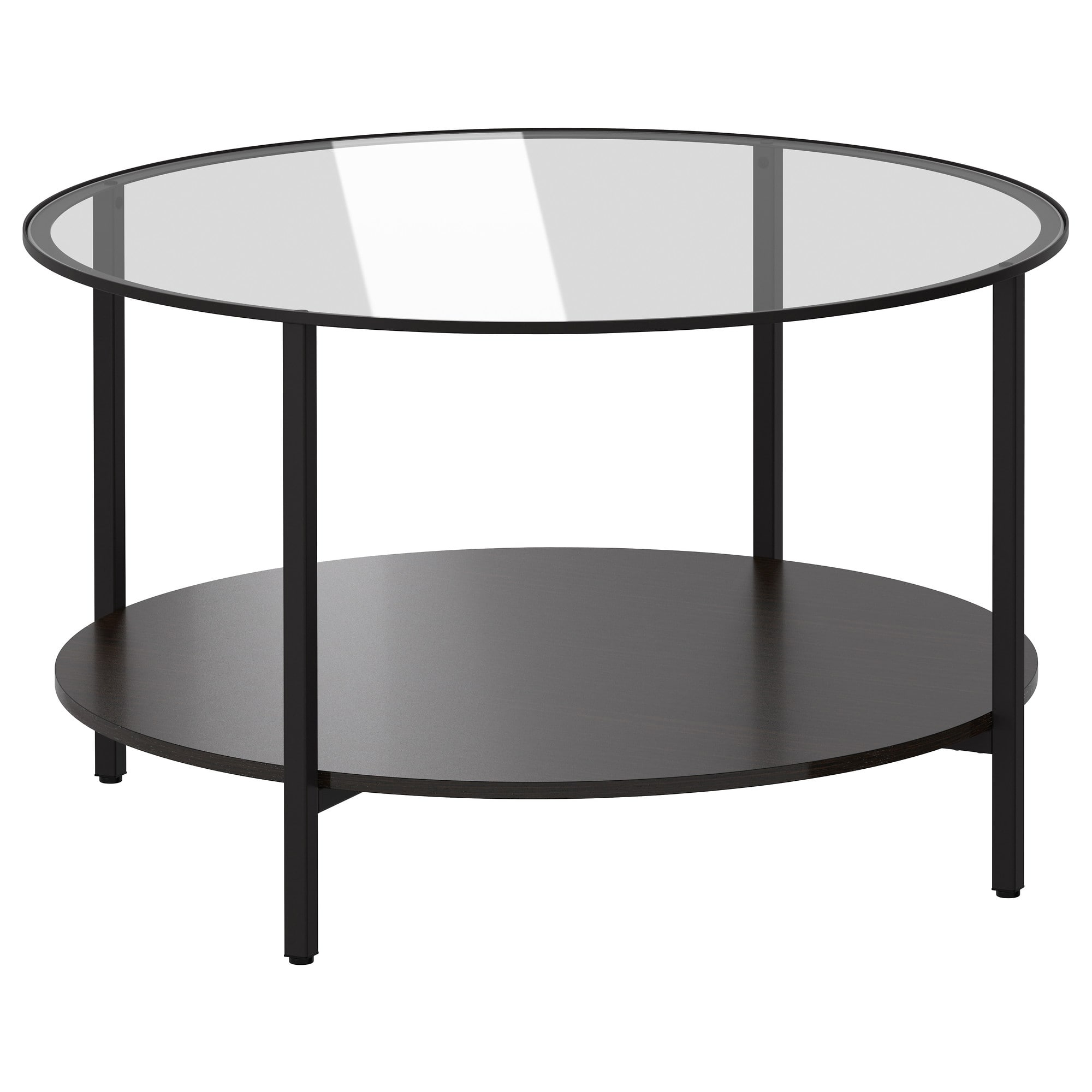 Vittsj Coffee Table Black Brown Glass intended for sizing 2000 X 2000