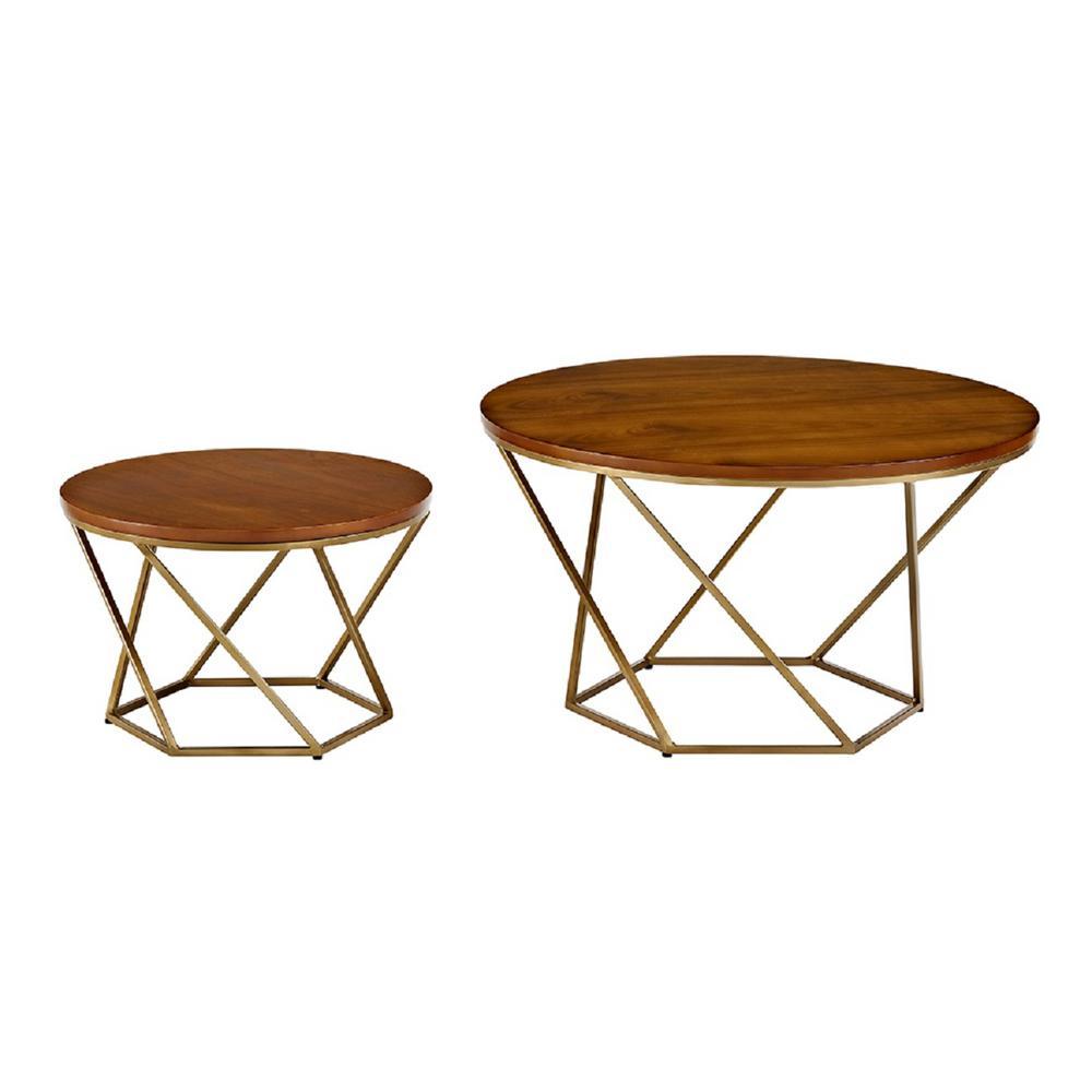 Walker Edison Furniture Company Geometric Faux White Marblegold within sizing 1000 X 1000