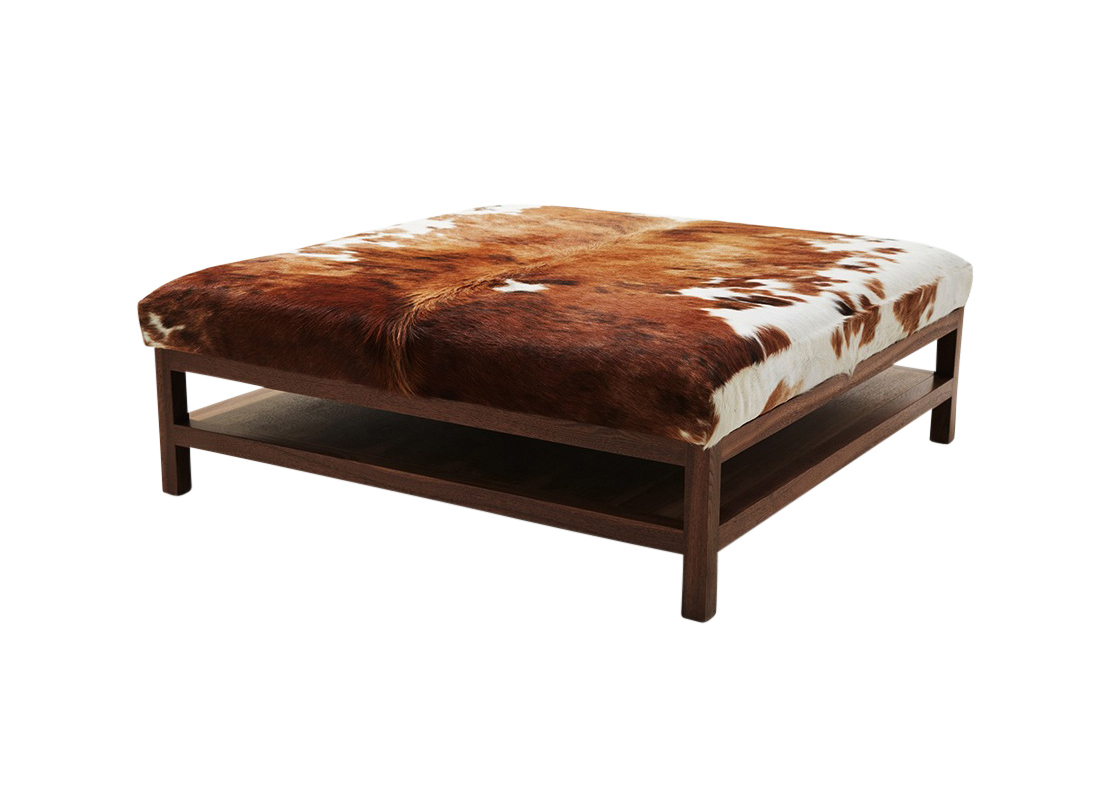 Walnut Coffee Table With Cowhide Outpost Original inside dimensions 1100 X 800