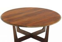 Walnut X Base Round Coffee Table At 1stdibs inside sizing 1280 X 1280