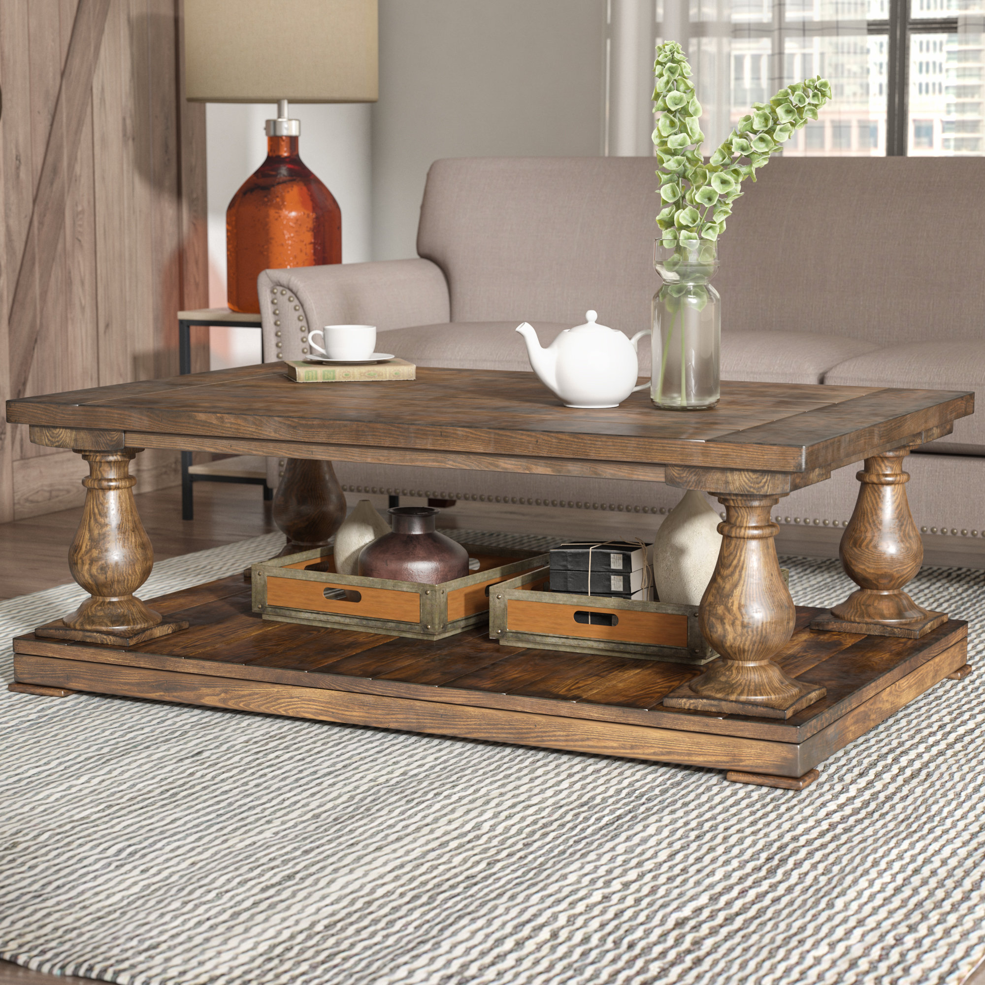 Wayfair Laurel Foundry Modern Farmhouse Gladiola Coffee Table within dimensions 2000 X 2000