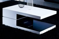 White And Black Rectangular High Gloss Contemporary Coffee Table within measurements 1200 X 850