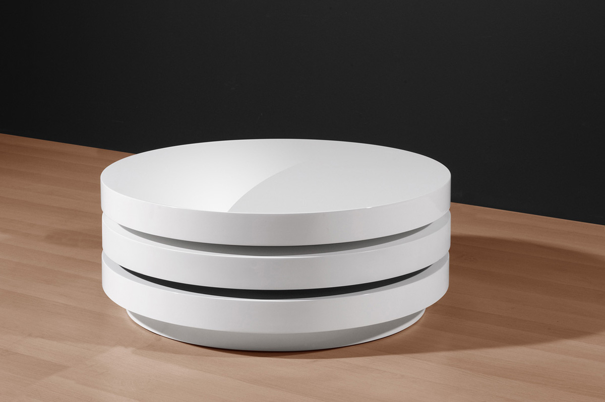 White Round Coffee Table Coffee Tables within size 1200 X 798