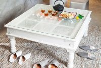 White Square Coffee Table With Glass On Top Waiti Could Make with dimensions 1178 X 836