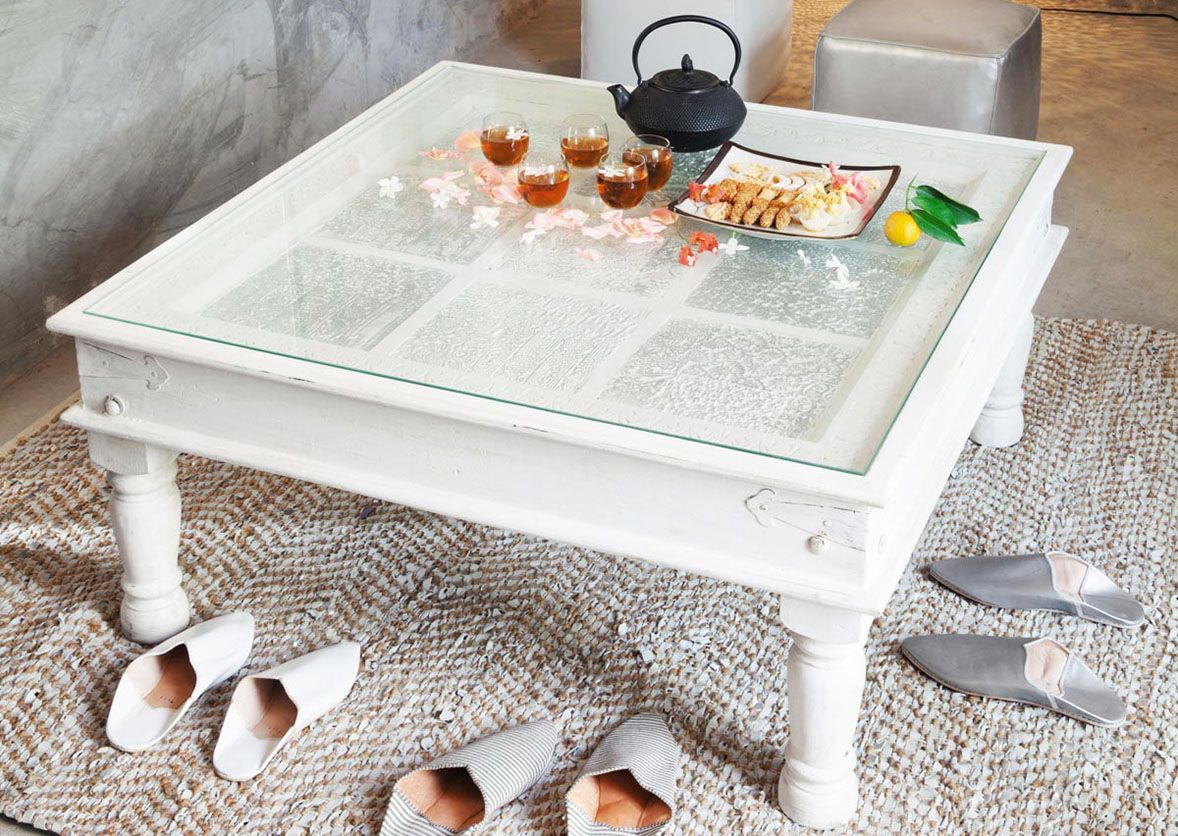 White Square Coffee Table With Glass On Top Waiti Could Make with size 1178 X 836