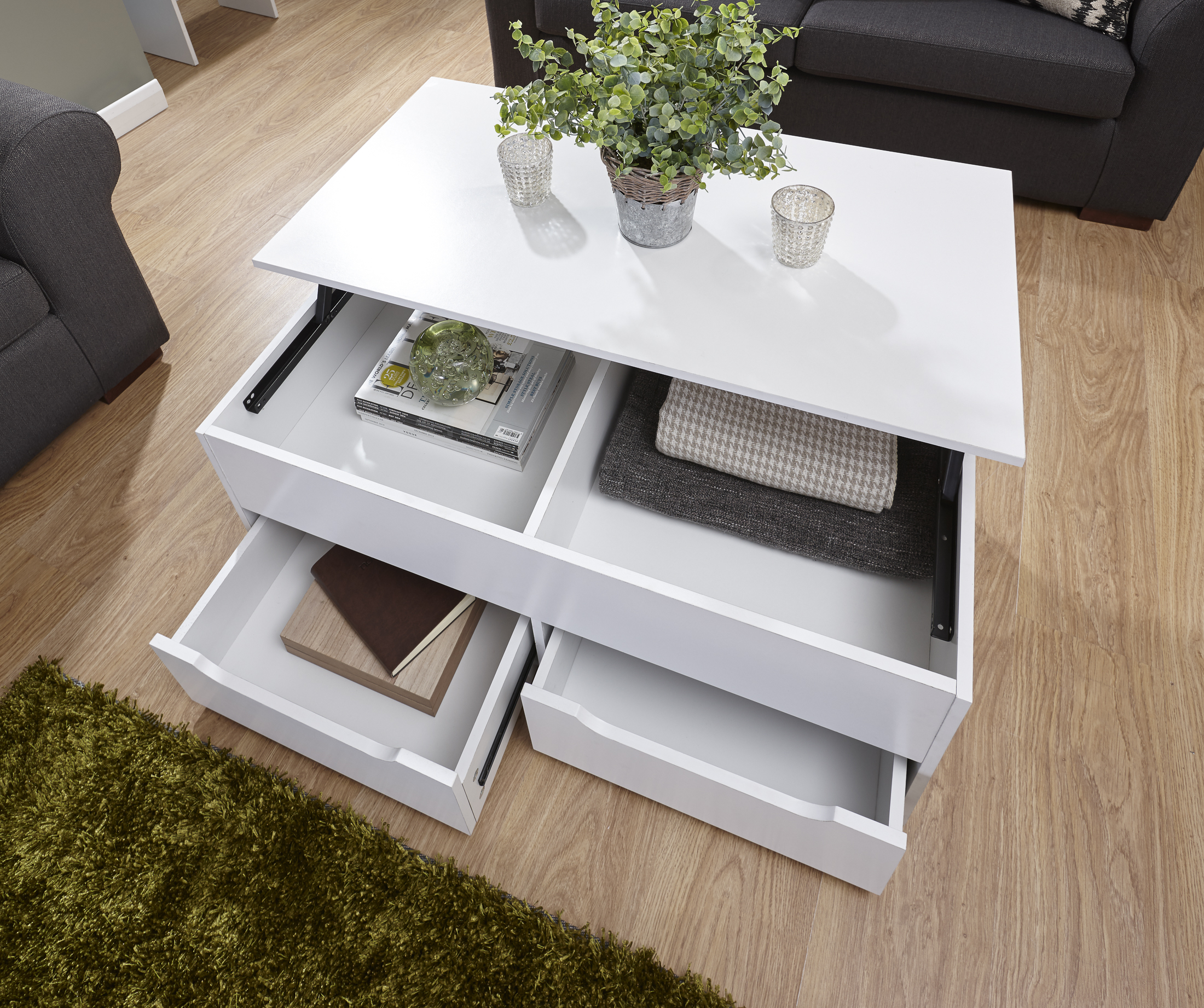 White Storage Coffee Table Hipenmoedernl regarding dimensions 2200 X 1842