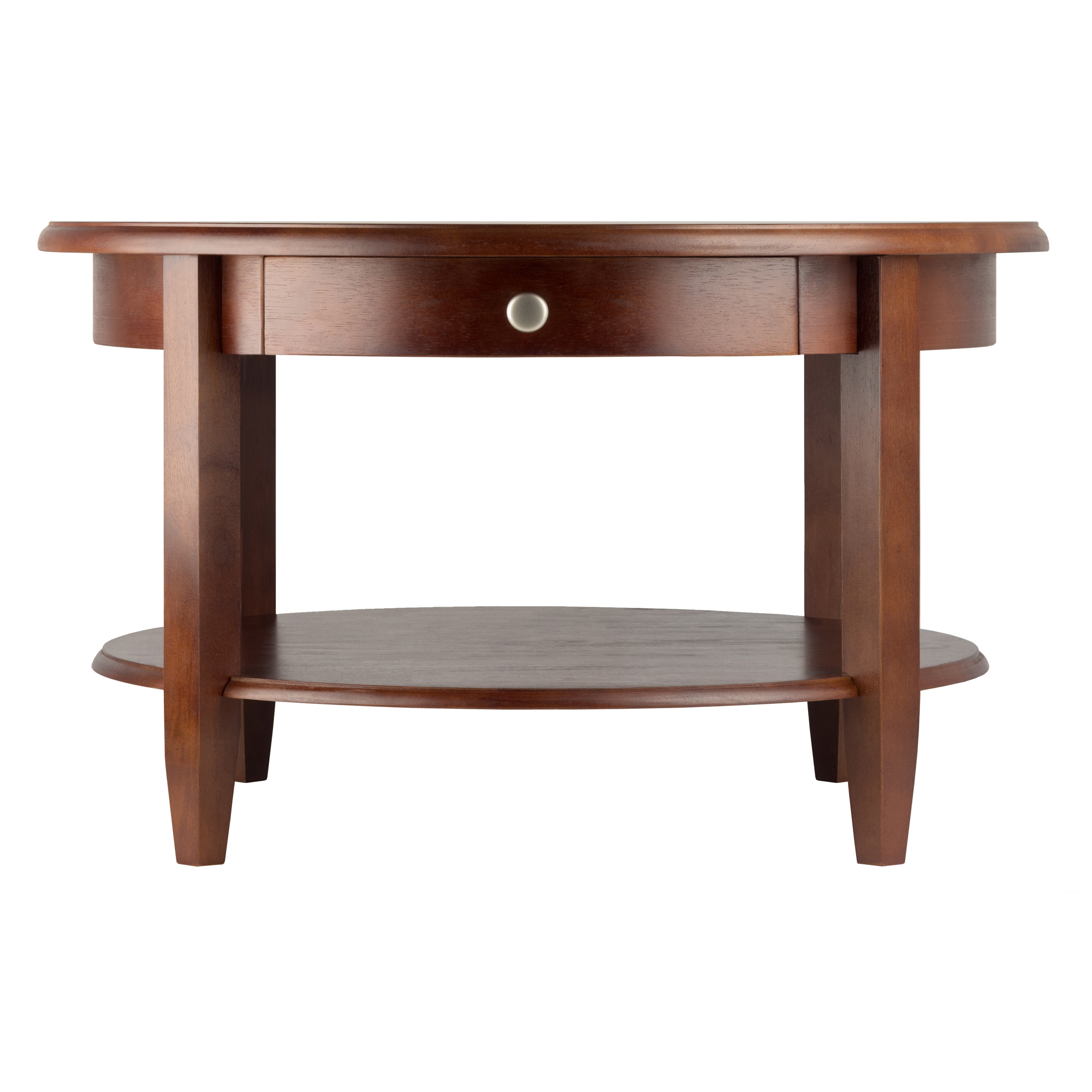 Winsome Wood Concord Round Coffee Table Walnut Finish Walmart with measurements 2000 X 2000