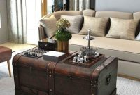 Wood Treasure Chest Vintage Coffee Table Storage Trunk Antique intended for dimensions 929 X 1017
