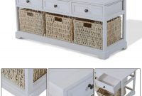 Wooden Coffee Table With Seagrass Wicker Storage Baskets Ideal intended for dimensions 1500 X 1500
