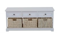 Wooden Coffee Table With Seagrass Wicker Storage Baskets Ideal regarding sizing 1500 X 1500
