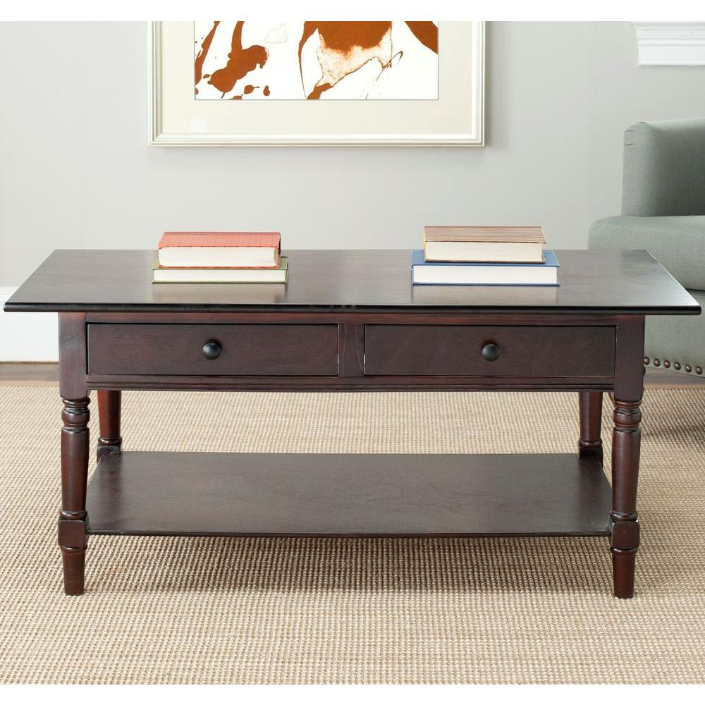 Wooden Storage Coffee Table Living Room Decorative Accent 2 Drawers inside dimensions 1000 X 1000