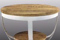 Woodxxl Iron Coffee Table Wood Mango Top 70 White 70x70x43 Cm with regard to sizing 1200 X 1200
