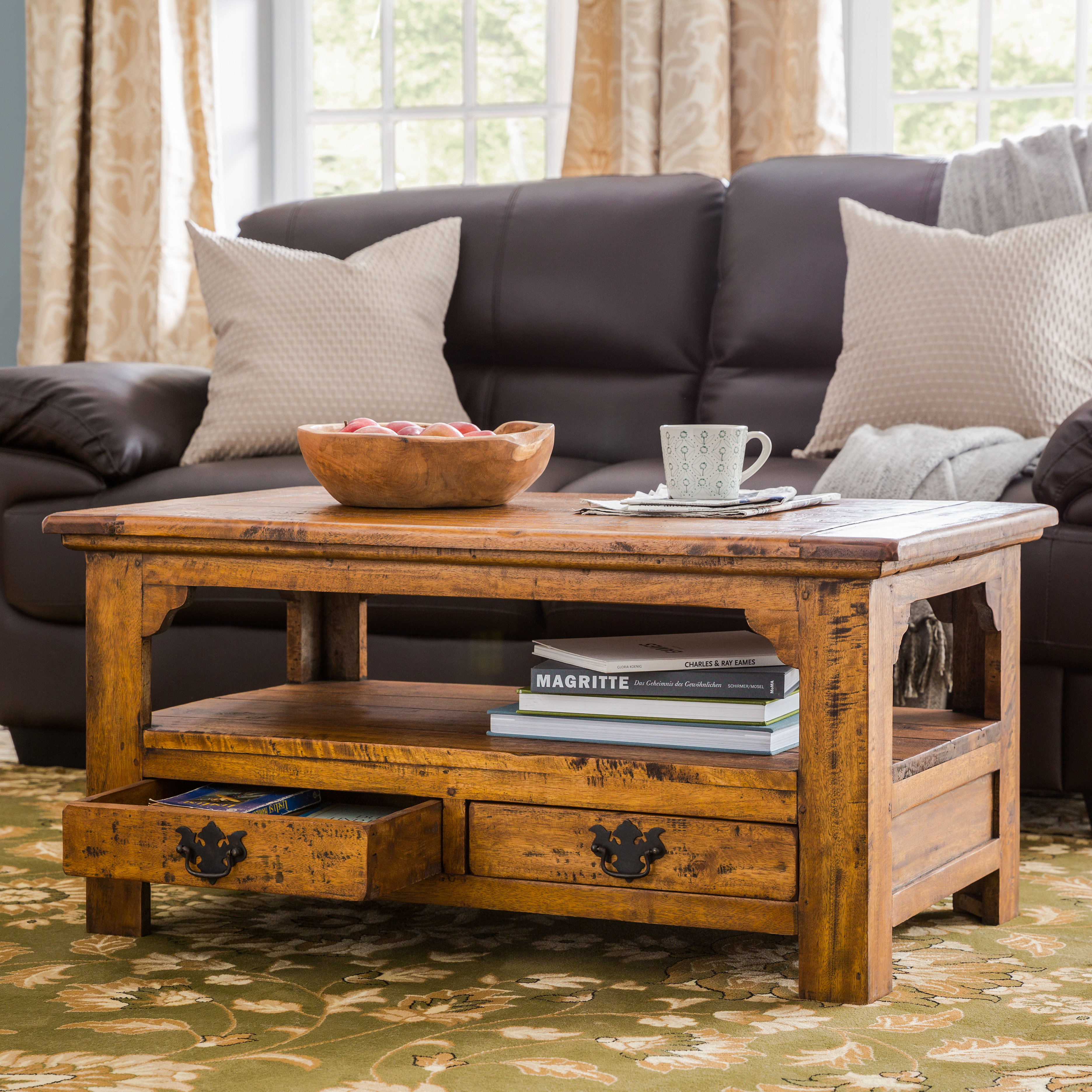World Menagerie Sanabria Solid Wood Coffee Table With Storage intended for sizing 3742 X 3742