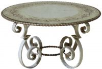 Wrought Iron Coffee Table With Eglomis Mirror Top France 1940s inside measurements 1280 X 1280