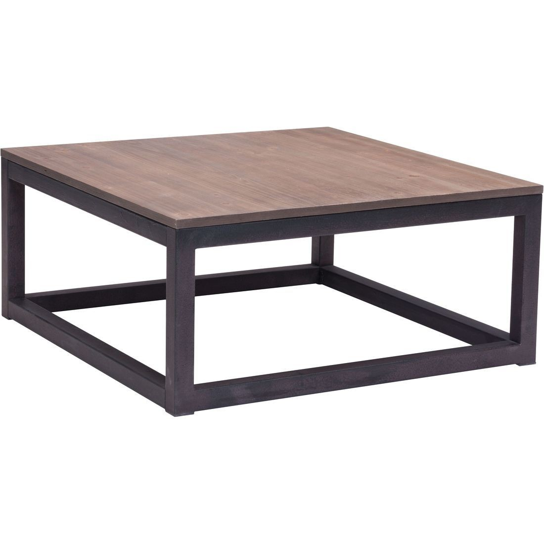 Zuo Era Civic Center Square Coffee Table In Distressed Natural in dimensions 1100 X 1100