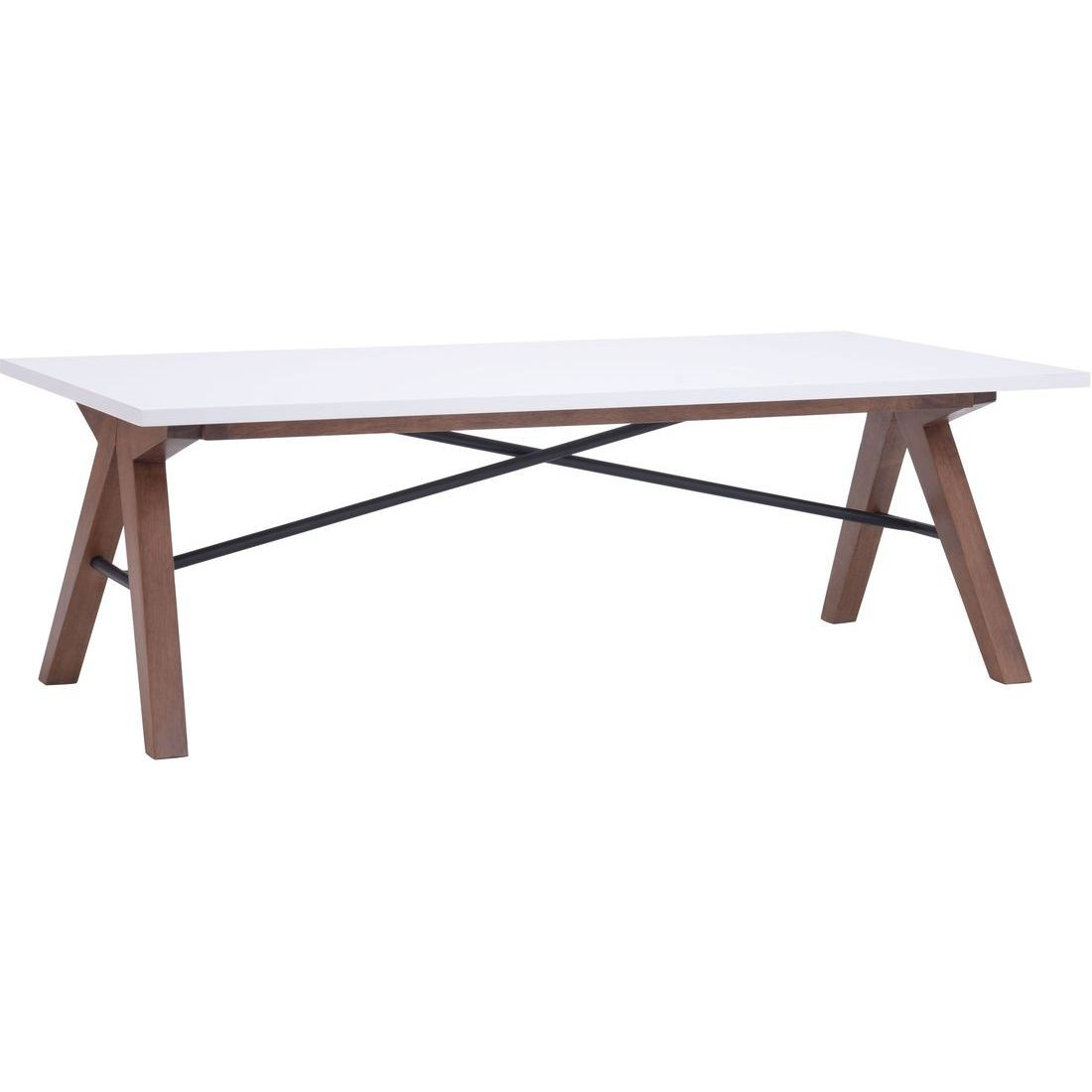 Zuo Modern Saints Coffee Table In Walnut And White Zuo 100145 in sizing 1100 X 1100