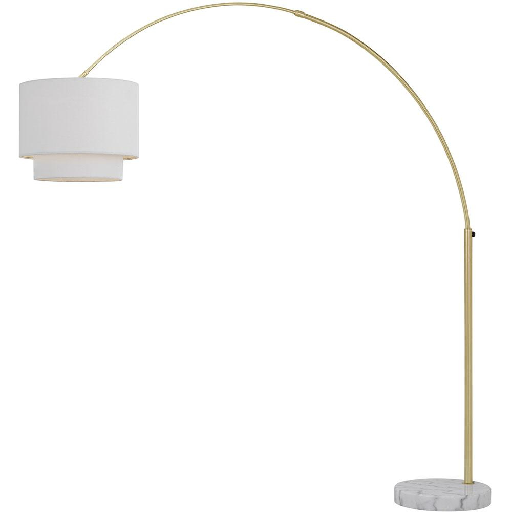 Af Lighting Arched 74 In Gold Floor Lamp With Fabric Shade throughout proportions 1000 X 1000