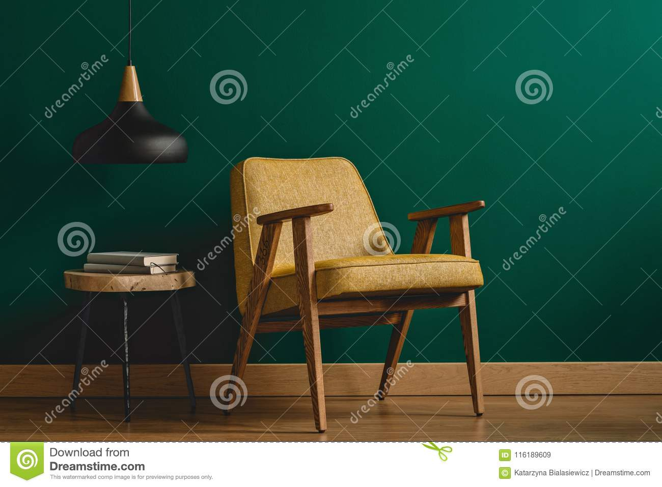 Armchair And Lamp Stock Image Image Of Living Concept in dimensions 1300 X 957