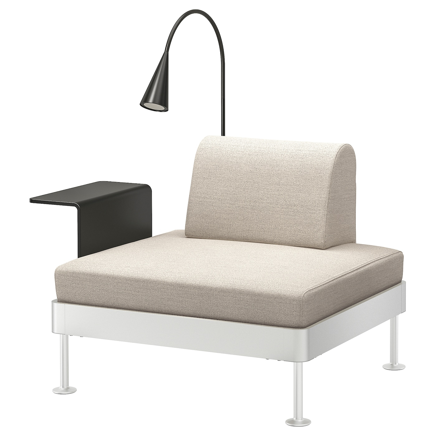 Armchair With Side Table And Lamp Delaktig Gunnared Beige inside size 1400 X 1400