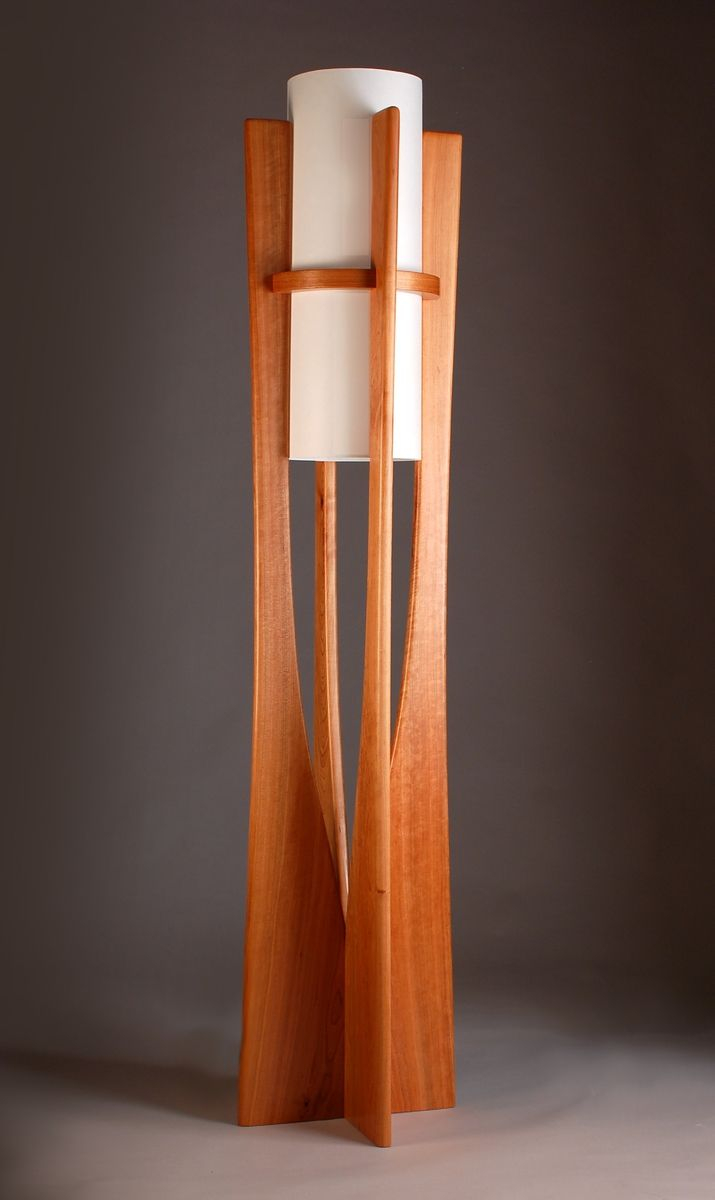 Custom Apollo Cherry Floor Lamp Kyle Dallman with regard to sizing 715 X 1200
