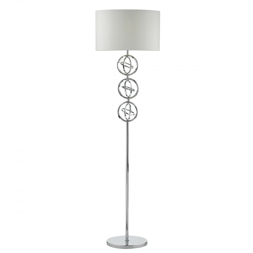 Innsbruck Modern Polished Chrome Floor Lamp With Shade for sizing 1000 X 1000