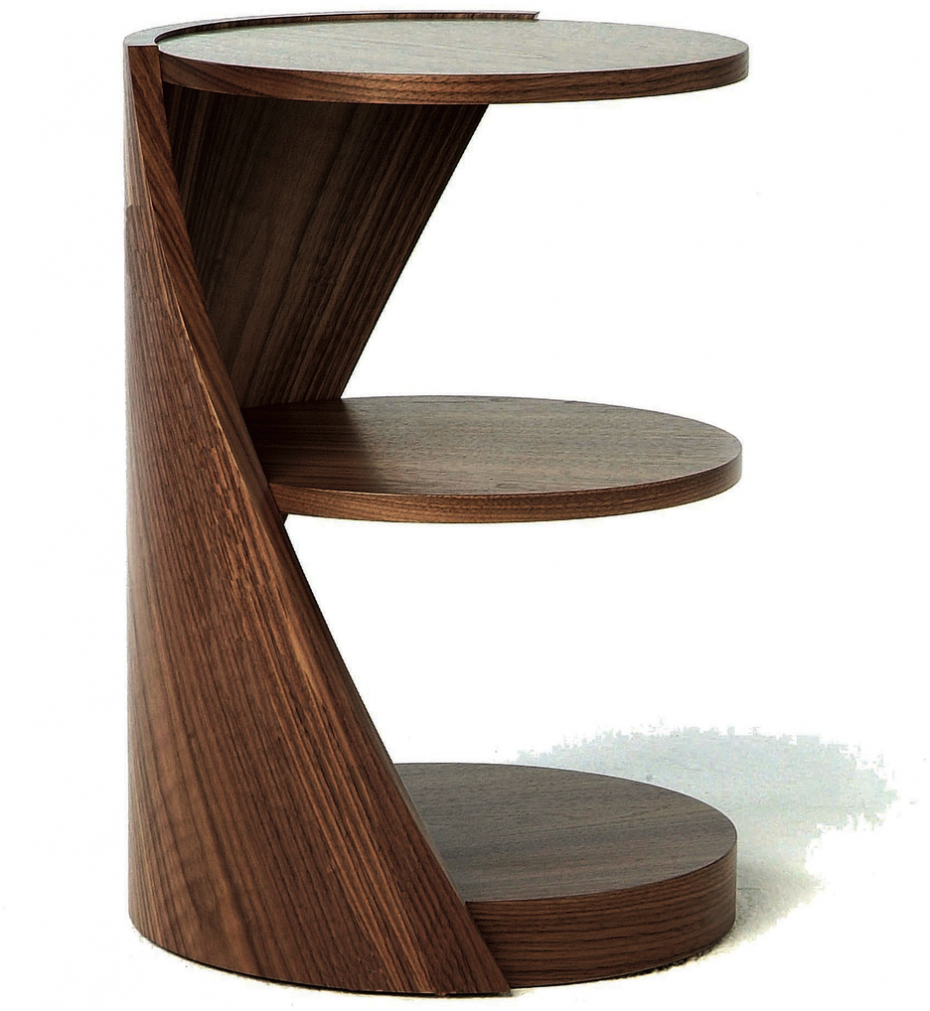 Inspiring Brown Modern Wood Small Table Design With Round throughout proportions 930 X 1011