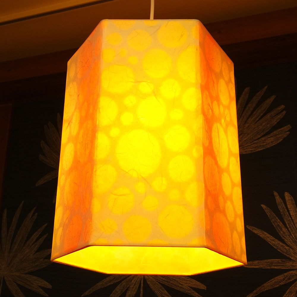 Korean Mulberry Paper Ceiling Lamp With Hexagonal Design In in dimensions 1000 X 1000
