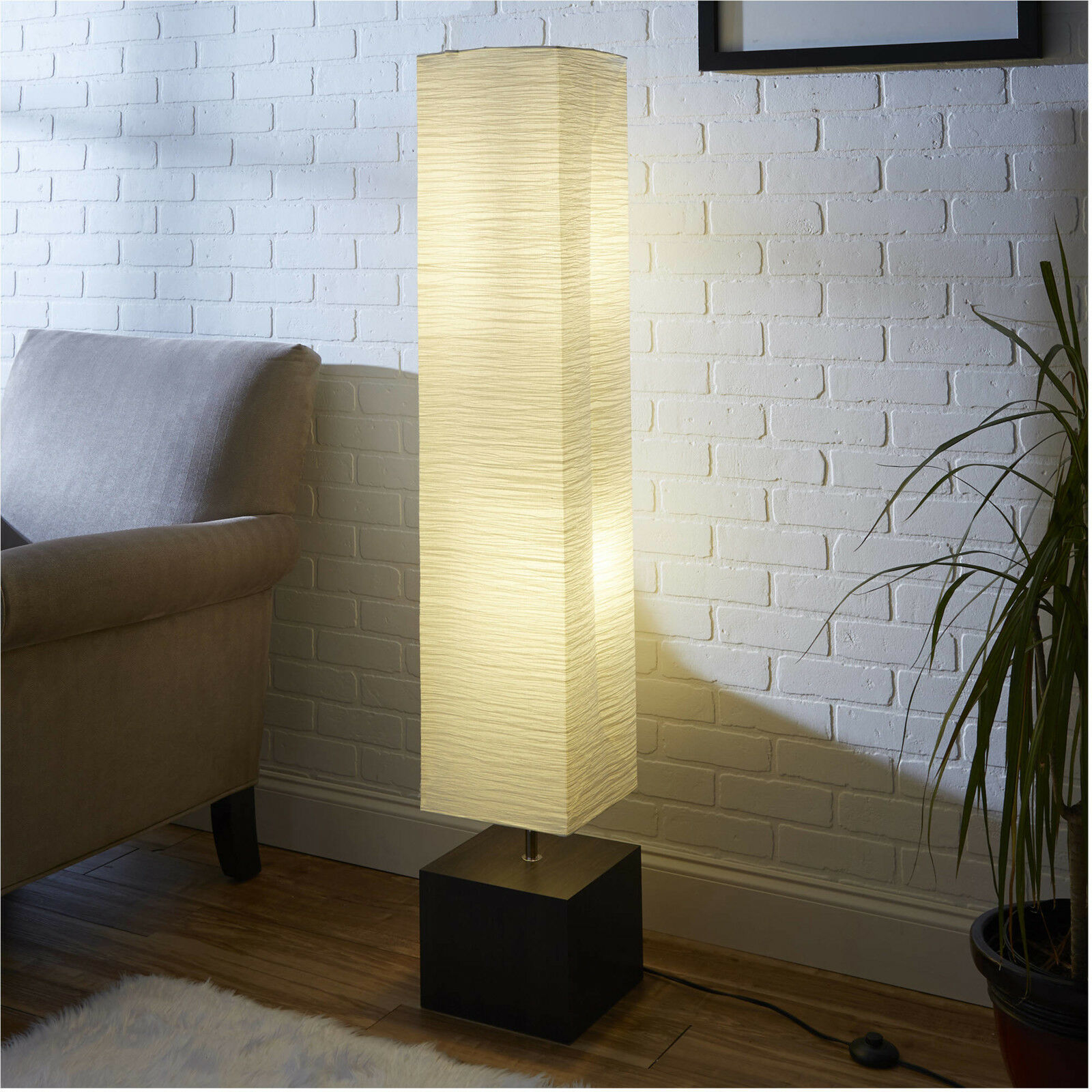 Paper Floor Lamp Wood • Display Cabinet