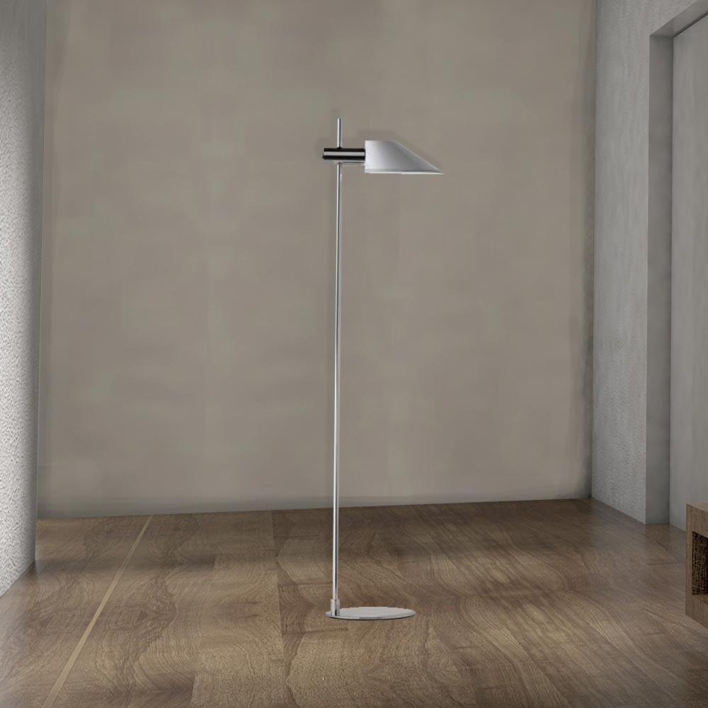 Modern Chrome Floor Lamp Cl 33979 with regard to size 1000 X 1000