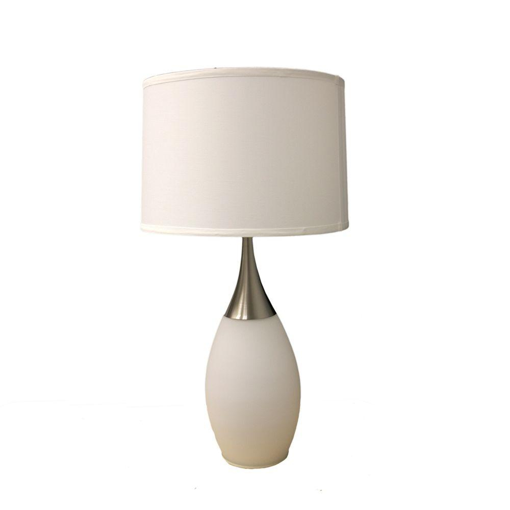 Ore International 28 In Modern Night Light White Table Lamp pertaining to sizing 1000 X 1000
