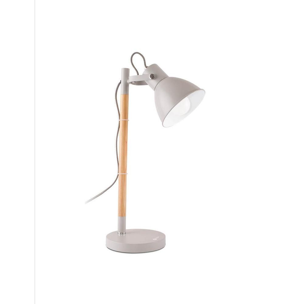 Ottlite 1975 In Avery Gray Metal Indoor Table Lamp With throughout sizing 1000 X 1000
