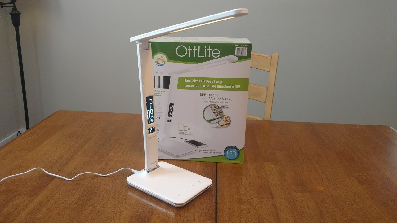 Ottlite Executive Led Desk Lamp From Costco Unboxing And Review throughout size 1280 X 720