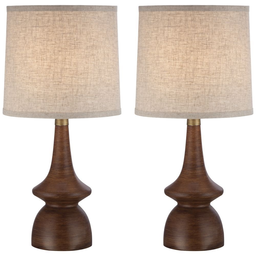 Rexford Mid Century Walnut Table Lamp Set Of 2 In 2018 intended for proportions 1000 X 1000