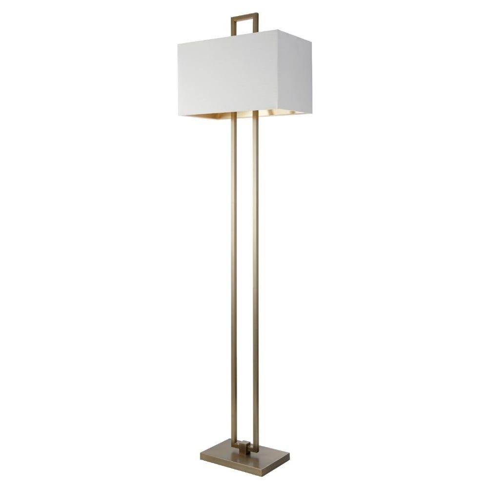 Rv Astley Dan Floor Lamp In Antique Brass Finish Brass inside size 1000 X 1000