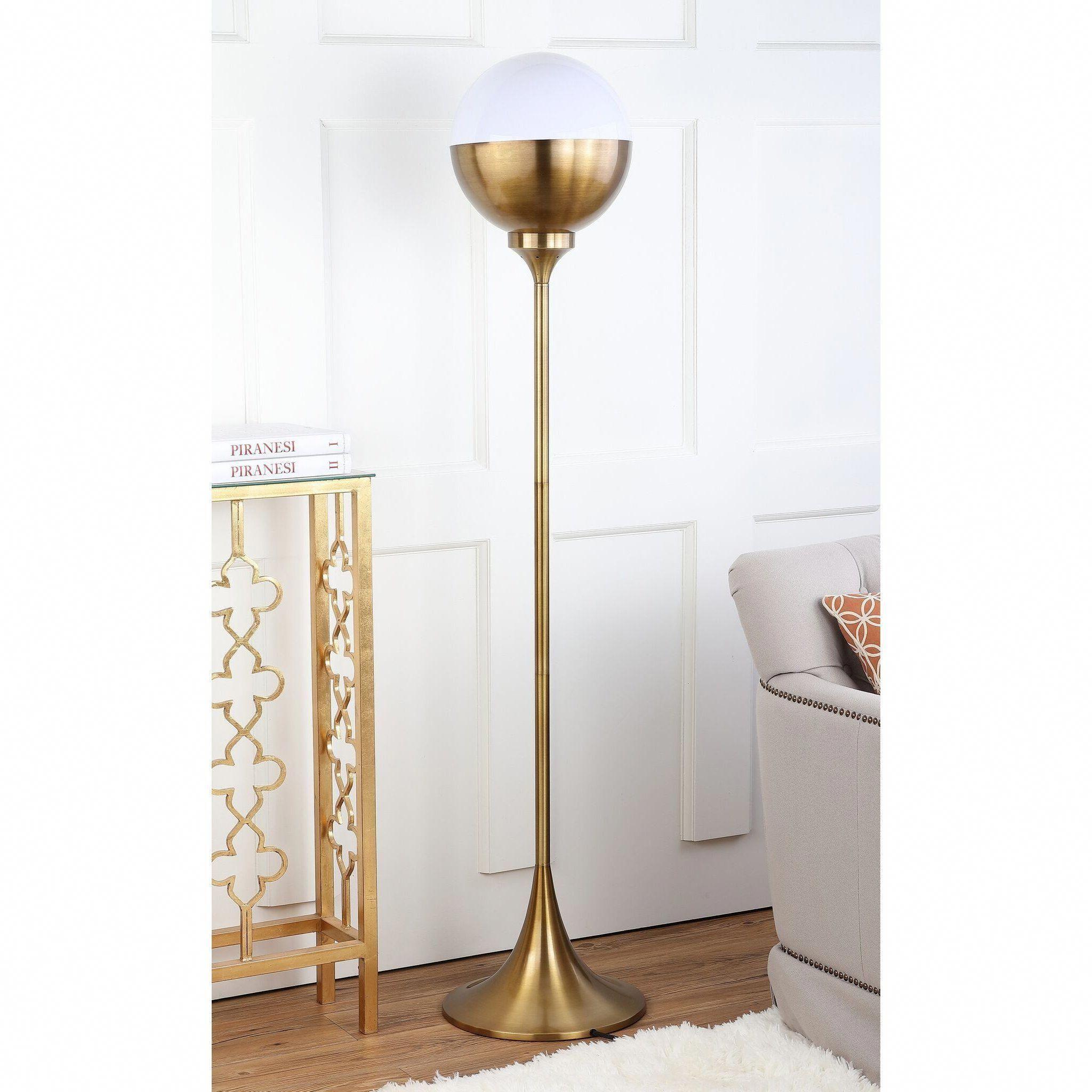 Modern Glam Floor Lamp Display Cabinet
