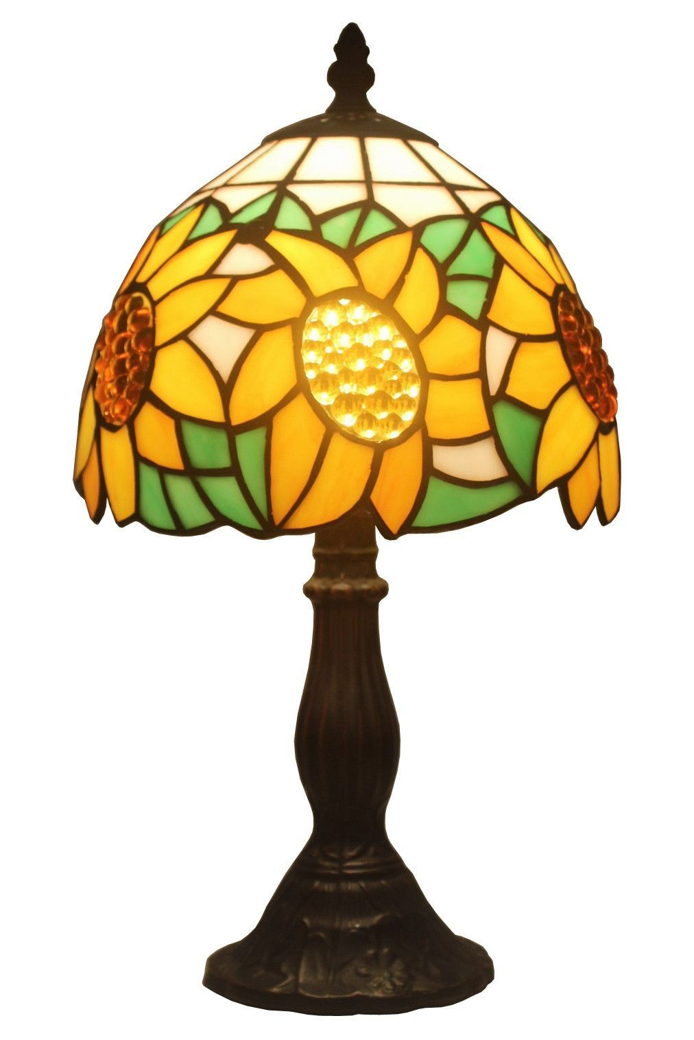 Modern Tiffany Style Table Lamps Display Cabinet