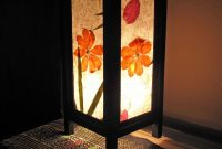Tropical Flowers Mulberry Paper Wood Frame Table Lantern in measurements 2048 X 2048