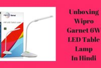 Wipro Garnet 6w Led Table Lamp 3 Grade Dimming Color Changing Unboxing In Hindi with size 1280 X 720